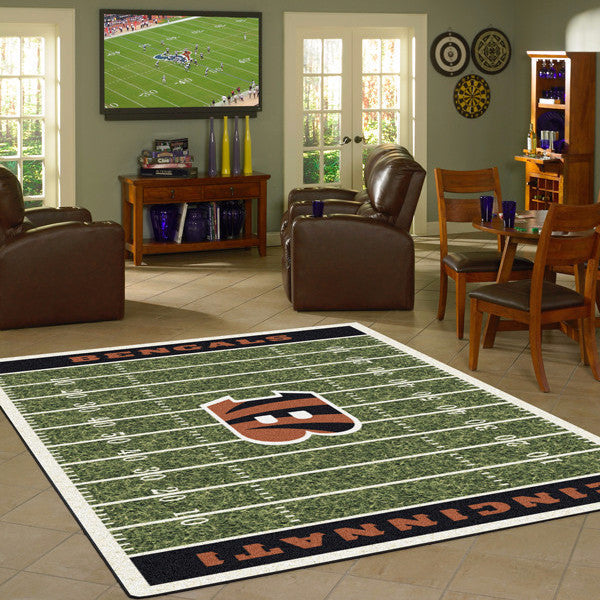 Cincinnati Bengals NFL Football Field Rug  NFL Area Rug - Fan Rugs