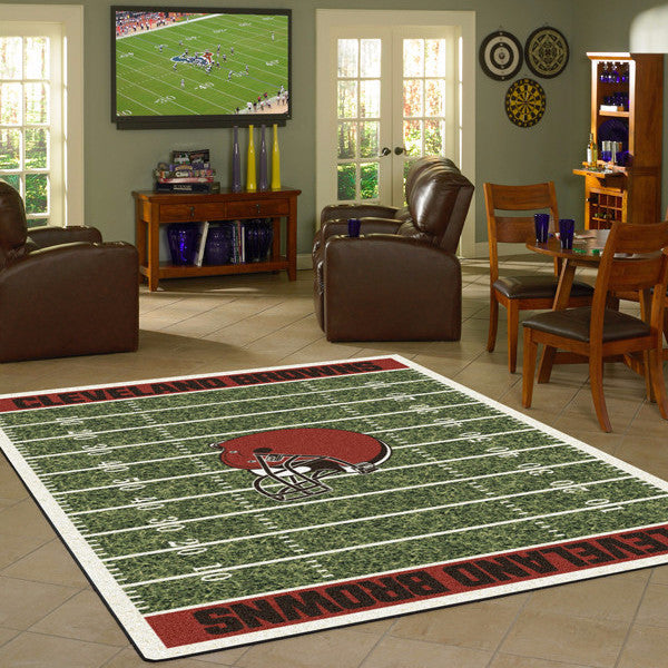 Cleveland Browns NFL Football Field Rug  NFL Area Rug - Fan Rugs