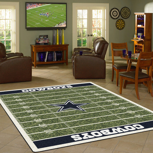 Dallas Cowboys Nfl Football Field Rug Fan Rugs