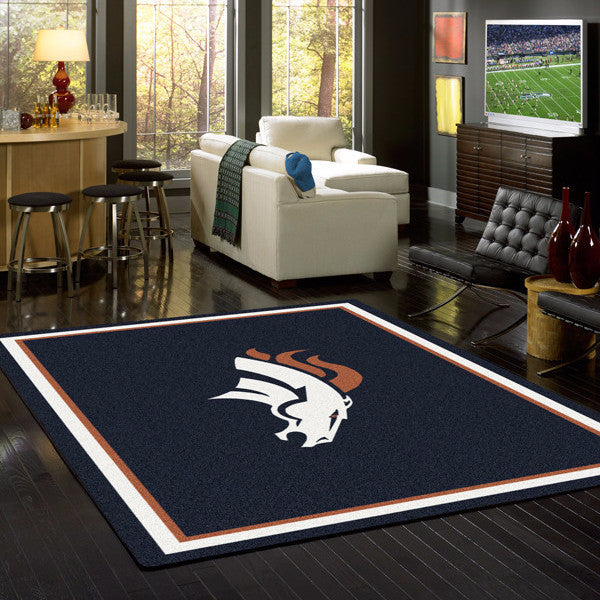 Denver Broncos NFL Team Spirit Rug  NFL Area Rug - Fan Rugs