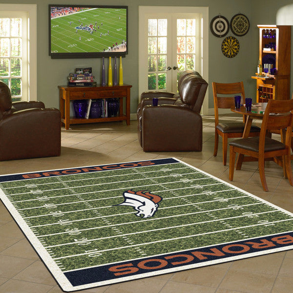 Denver Broncos NFL Football Field Rug  NFL Area Rug - Fan Rugs