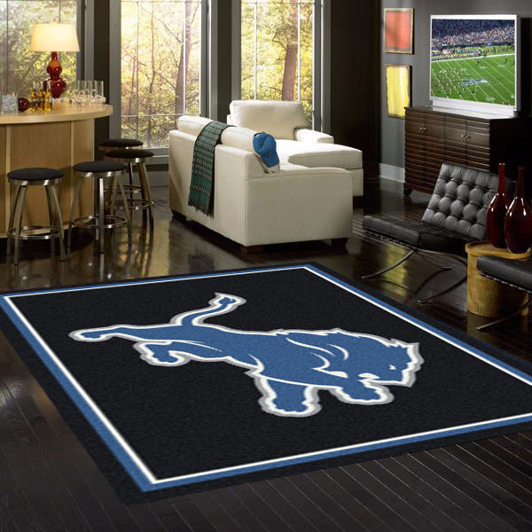 Detroit Lions NFL Team Spirit Rug  NFL Area Rug - Fan Rugs