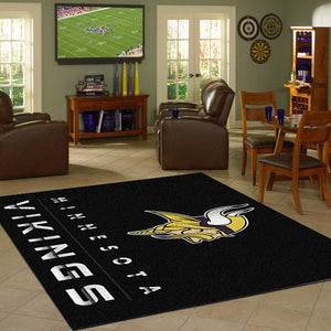 Minnesota Vikings Chrome Area Rug  NFL Area Rug - Fan Rugs