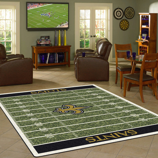 New Orleans Saints NFL Football Field Rug  NFL Area Rug - Fan Rugs