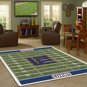 New York Giants NFL Football Field Rug  NFL Area Rug - Fan Rugs