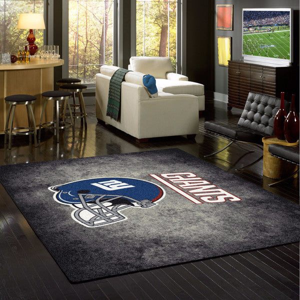 New York Giants NFL Team Distressed Rug  NFL Area Rug - Fan Rugs