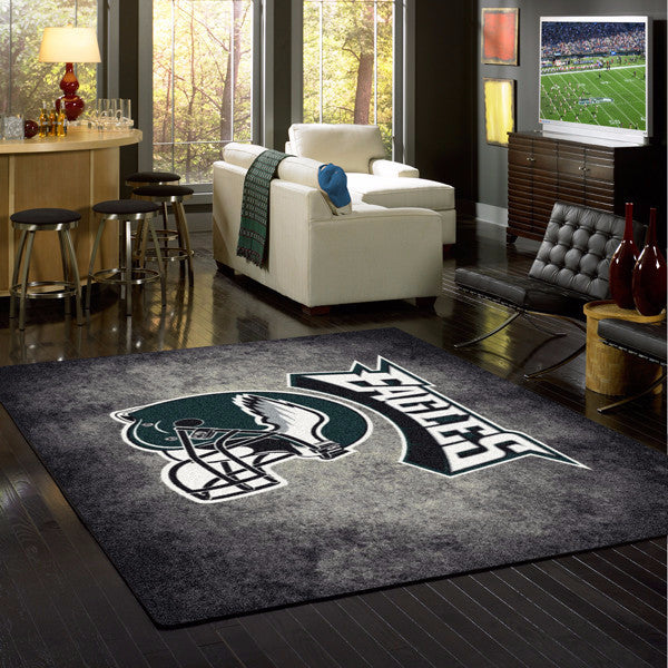 Philadelphia Eagles NFL Team Distressed Rug  NFL Area Rug - Fan Rugs