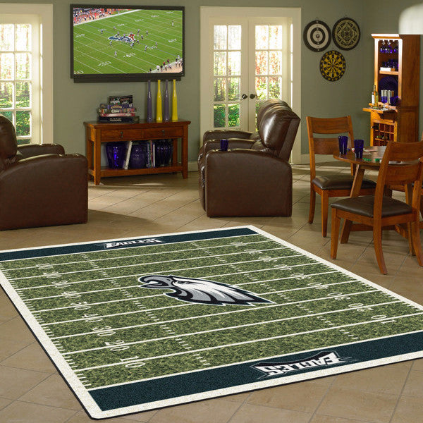 Philadelphia Eagles NFL Football Field Rug  NFL Area Rug - Fan Rugs