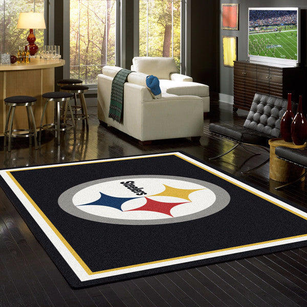 Pittsburgh Steelers NFL Team Spirit  NFL Area Rug - Fan Rugs