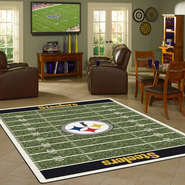 Pittsburgh Steelers NFL Football Field Rug  NFL Area Rug - Fan Rugs