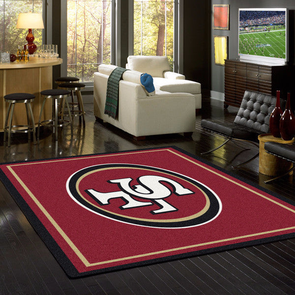 San Francisco 49ers NFL Team Spirit Rug  NFL Area Rug - Fan Rugs