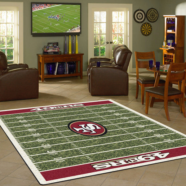 San Francisco 49ers NFL Football Field Rug  NFL Area Rug - Fan Rugs