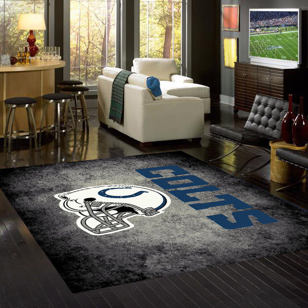 Indianapolis Colts NFL Team Distressed Rug  NFL Area Rug - Fan Rugs