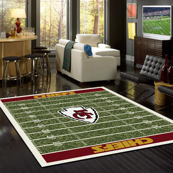 Kansas City Chiefs NFL Football Field Rug  NFL Area Rug - Fan Rugs