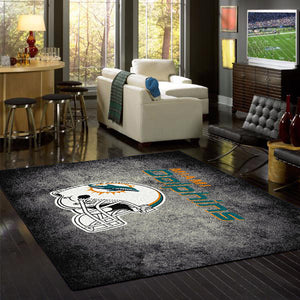 Miami Dolphins NFL Team Distressed Rug  NFL Area Rug - Fan Rugs