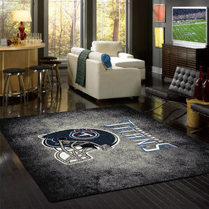 Tennessee Titans NFL Team Distressed Rug  NFL Area Rug - Fan Rugs