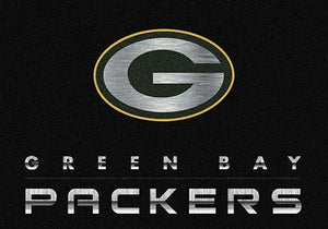 Green Bay Packers Chrome Area Rug  NFL Area Rug - Fan Rugs