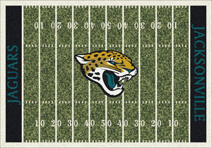 Jacksonville Jaguars NFL Football Field Rug  NFL Area Rug - Fan Rugs