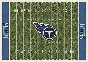 Tennessee Titans NFL Football Field Rug  NFL Area Rug - Fan Rugs