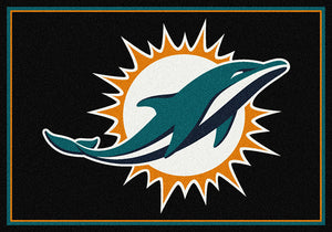 Miami Dolphins NFL Team Spirit Rug  NFL Area Rug - Fan Rugs