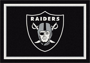 Las Vegas Raiders NFL Team Spirit Rug  NFL Area Rug - Fan Rugs
