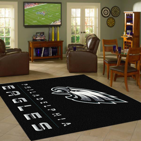 Philadelphia Eagles Chrome Area Rug  NFL Area Rug - Fan Rugs