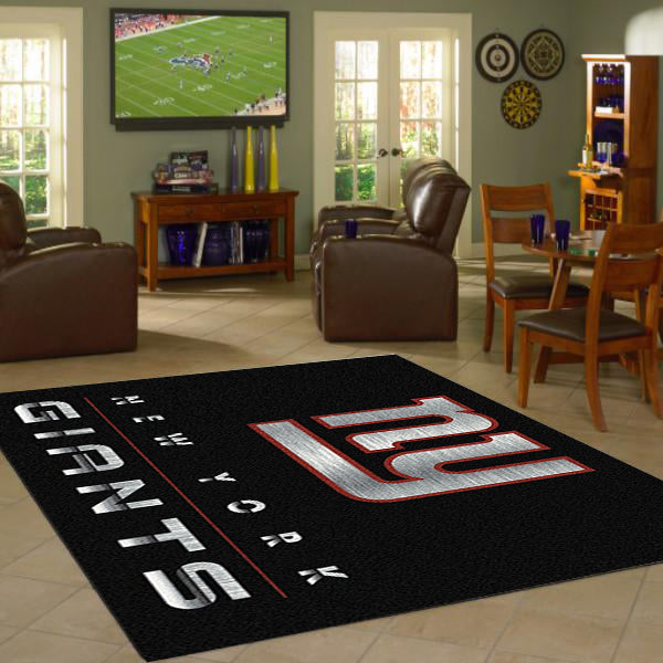 New York Giants Chrome Area Rug  NFL Area Rug - Fan Rugs