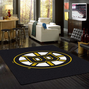 Boston Bruins NHL Team Spirit Rug  NHL Area Rug - Fan Rugs