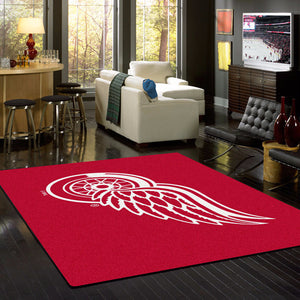Detroit Red Wings NHL Team Spirit Rug  NHL Area Rug - Fan Rugs