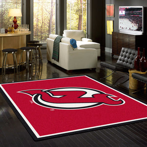 New Jersey Devils NHL Team Spirit Rug  NHL Area Rug - Fan Rugs