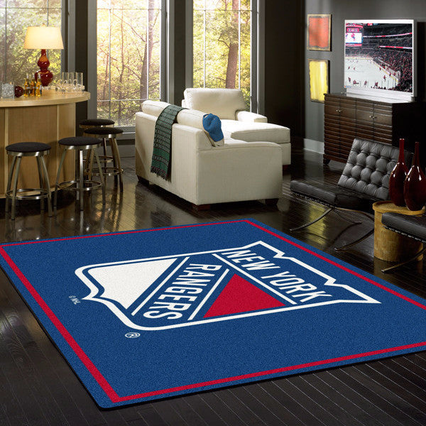New York Rangers NHL Team Spirit Rug  NHL Area Rug - Fan Rugs