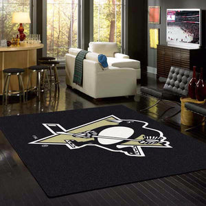 Pittsburgh Penguins NHL Team Spirit Rug  NHL Area Rug - Fan Rugs
