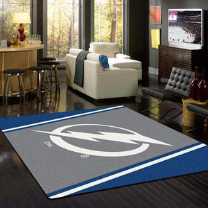 Tampa Bay Lightning NHL Team Spirit Rug  NHL Area Rug - Fan Rugs