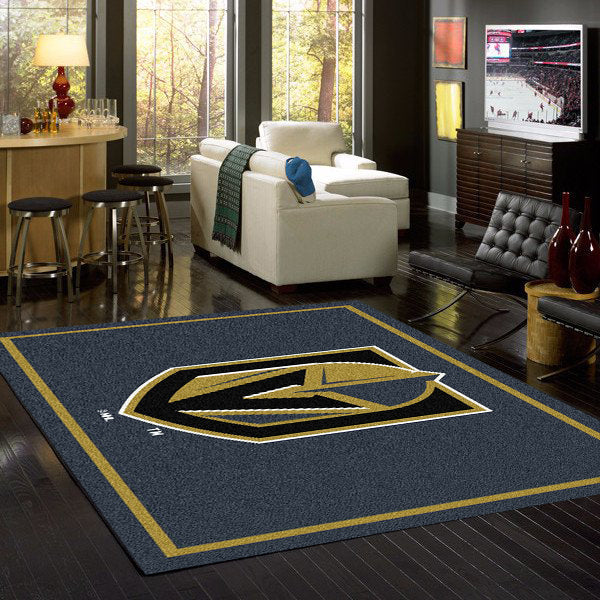 Vegas Golden Knights Team Spirit Rug  NHL Area Rug - Fan Rugs