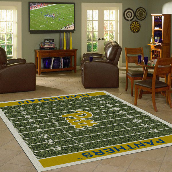 Pittsburgh University Football Field Rug  College Area Rug - Fan Rugs