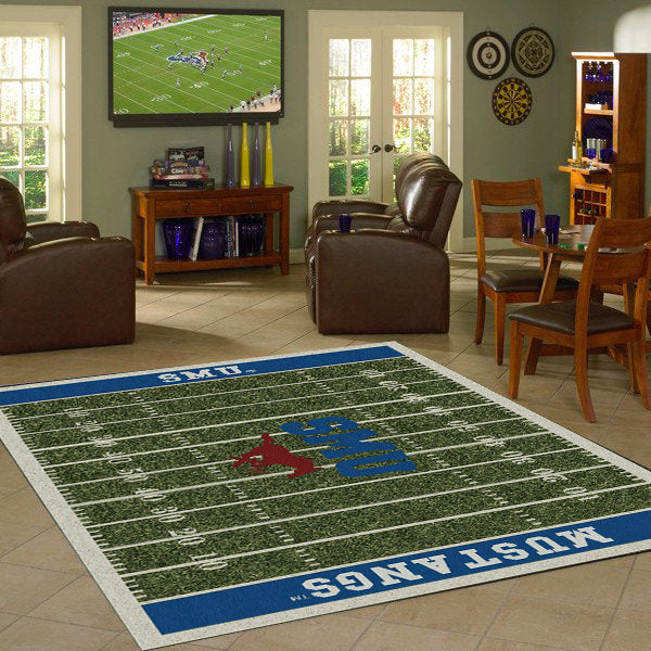 Southern Methodist University Football Field Rug  College Area Rug - Fan Rugs