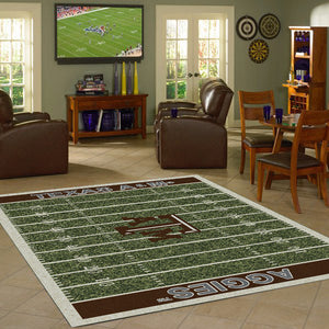 Texas A&M Football Field Rug  College Area Rug - Fan Rugs