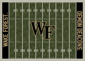 Wake Forest University Football Field Rug  College Area Rug - Fan Rugs