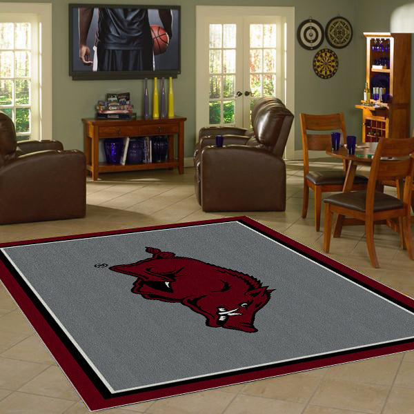 Arkansas University Team Spirit Rug  College Area Rug - Fan Rugs