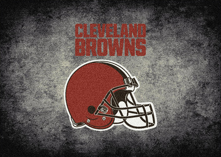 Cleveland Browns Nfl Team Distressed Rug Fan Rugs