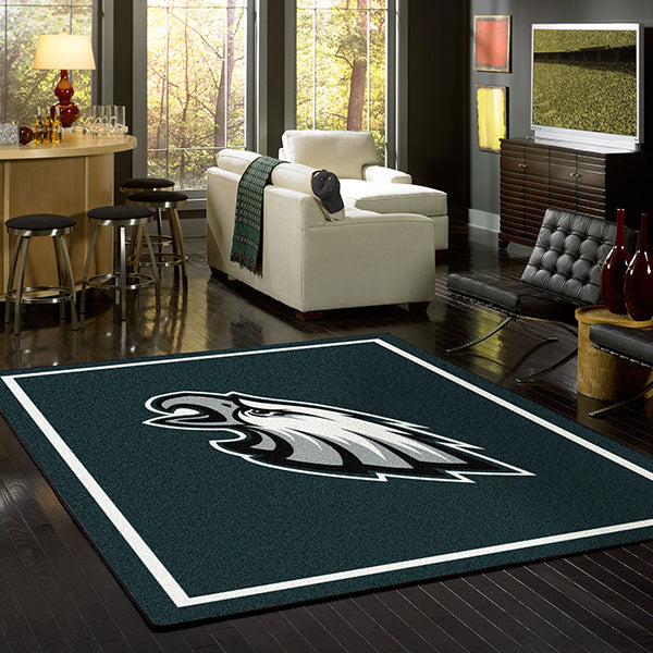 Philadelphia Eagles NFL Team Spirit Rug  NFL Area Rug - Fan Rugs