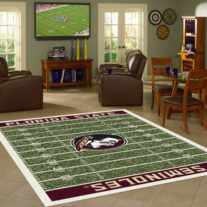 Florida State University Football Field Rug  College Area Rug - Fan Rugs