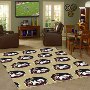 Florida State University Repeating Logo Rug  College Area Rug - Fan Rugs
