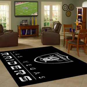 Las Vegas Raiders Chrome Area Rug  NFL Area Rug - Fan Rugs