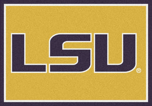 LSU University Team Spirit Rug  College Area Rug - Fan Rugs