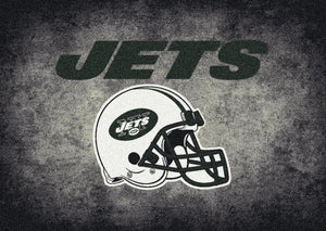New York Jets NFL Team Distressed Rug  NFL Area Rug - Fan Rugs