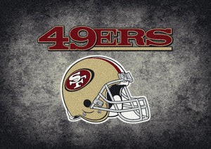 San Francisco 49ers NFL Team Distressed Rug  NFL Area Rug - Fan Rugs