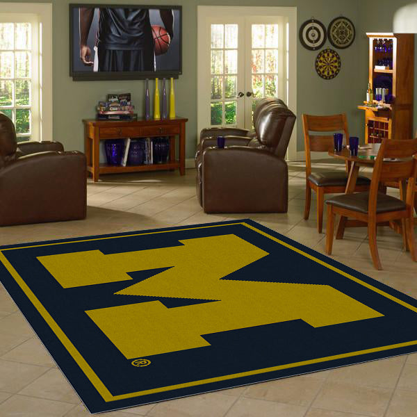 University of Michigan Team Spirit Rug  College Area Rug - Fan Rugs