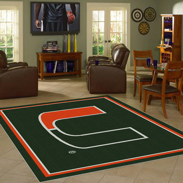 Miami University Team Spirit Rug  College Area Rug - Fan Rugs