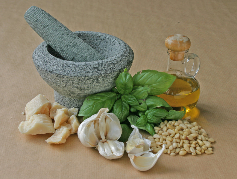 Become a pesto pro using authentic, high quality EVOO from Uruguay!